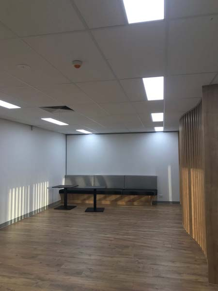 Commercial painting painted walls and office